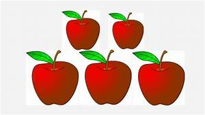 5 Red Apples - YouTube