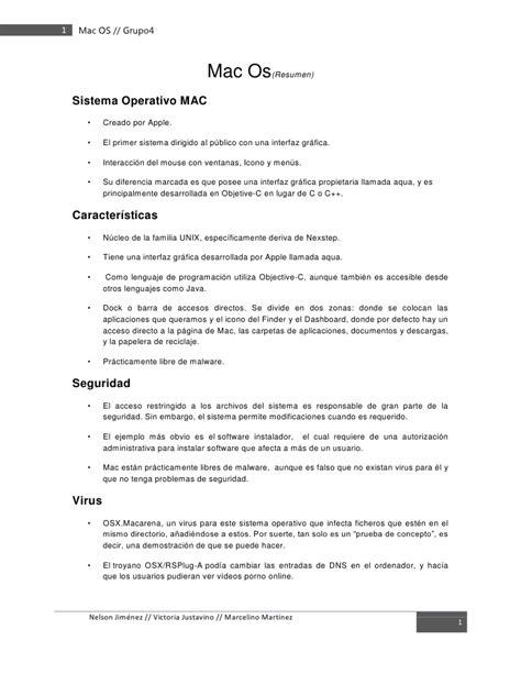Resume Mac Os mac os resumen edit