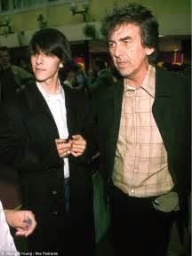 George Harrison's boy Dhani shows off his wife...(who ...