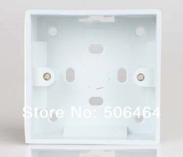 wall mounted light switch box wall mounting box for wall switch installed 86mm light switch box surface mount in electrical