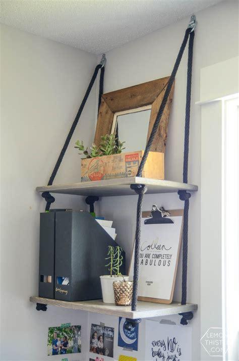 Diy Hanging Shelves (and Farewell Office)  Lemon Thistle