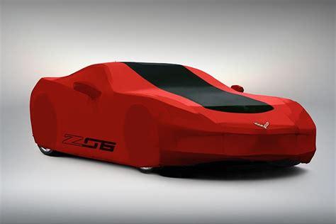corvette   gm outdoor car cover gray red