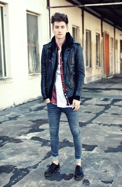 Picture With White Shirt Black Leather Jacket