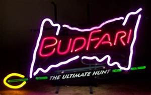 Budweiser Budfari Ultimate Hunt Neon Beer Bar Sign Light