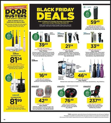 friday kohls ad browse pages prev