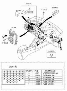 919503x012 - Hyundai Junction Box Assembly  Pnl  Unlockg  Ipnl