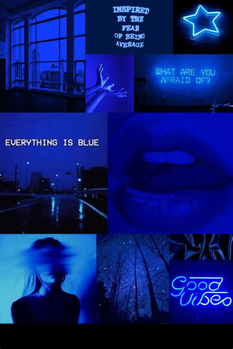 blue aesthetic collage wallpaper laptop