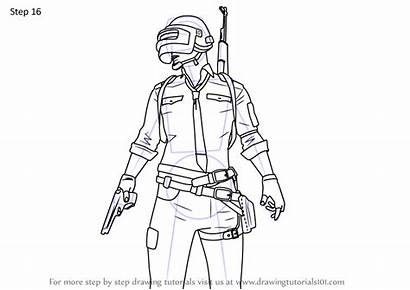 Pubg Drawing Draw Player Step Easy Coloring