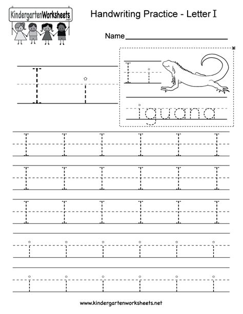 letter i writing practice worksheet free kindergarten 906 | letter i writing practice worksheet printable