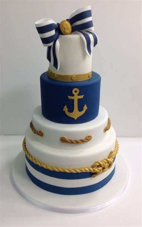 southern blue celebrations nautical cake inspirations ideas