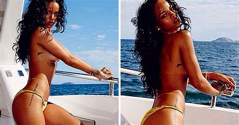 Rihanna Topless Body Nude Pictures On Boat In Brazil Irish Mirror Online