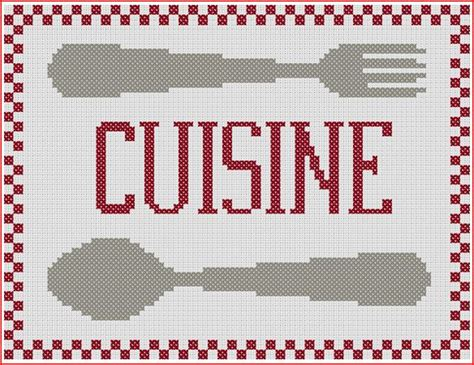 grille de cuisine grille gratuite de point de croix grille cuisine