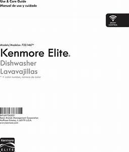 Kenmore Elite 72214673710 User Manual Dishwasher Manuals