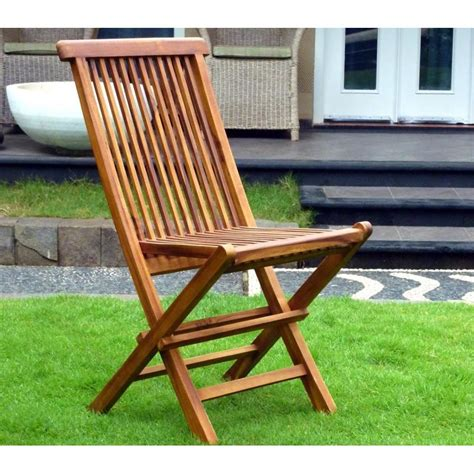 chaises teck chaises pliante en teck huilé meuble de jardin