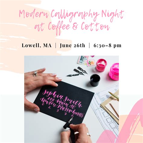 Read reviews from coffee and cotton at 250 jackson street in lowell 01852 from trusted lowell restaurant reviewers. Modern Calligraphy Night at Coffee & Cotton - Sip & Script