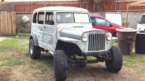 jeep willys lifted 1949 jeep willys wagon youtube