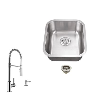 brushed stainless steel sinks kitchen ipt sink company undermount 16 in 18 stainless 7975