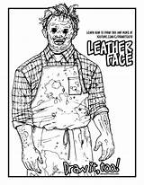 Leatherface sketch template