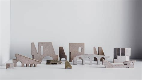 bruce rowes structures exhibition  hub furniture