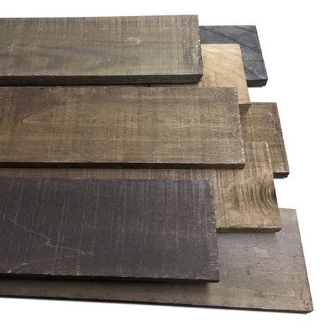 hardwood boards home depot 1 2 in x 4 in x 4 ft weathered poplar hardwood board 8 piece hdpow120404 the home depot