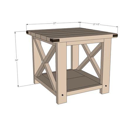 rustic   table ana white