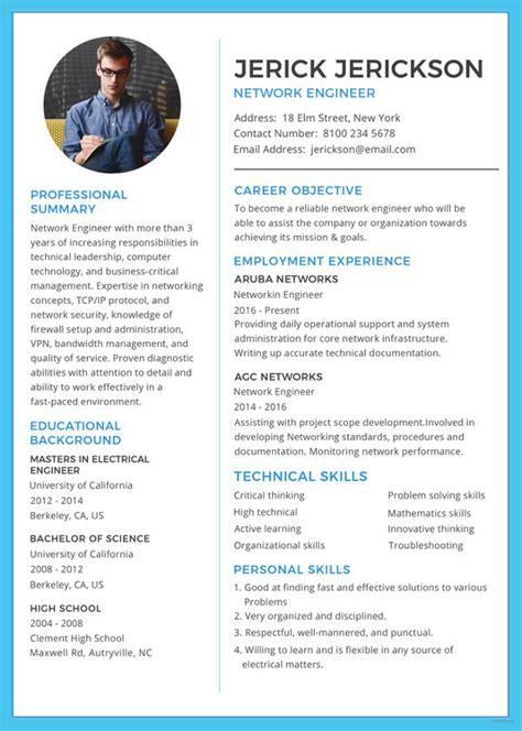 6 network engineer resume templates psd doc pdf