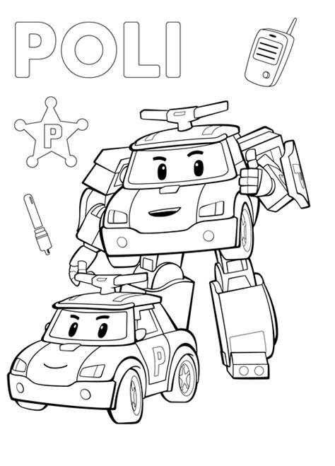 robocar poli coloring lesson kids coloring page coloring lesson  printables