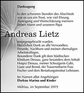 Super Sonntag Wittenberg : traueranzeigen von andreas lietz ~ Watch28wear.com Haus und Dekorationen