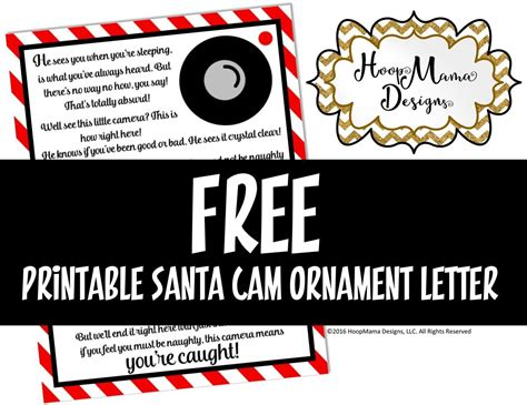 hoopmama designs llc  printable santa cam letter