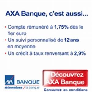 Credit Axa Banque : axa banque un compte courant qui vous rapporte et la carte bancaire gratuite cartes ~ Maxctalentgroup.com Avis de Voitures