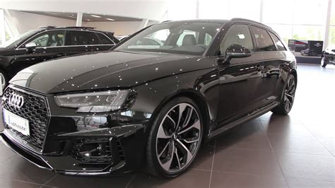 audi exclusive 2018 audi rs4 450ps myth black with green