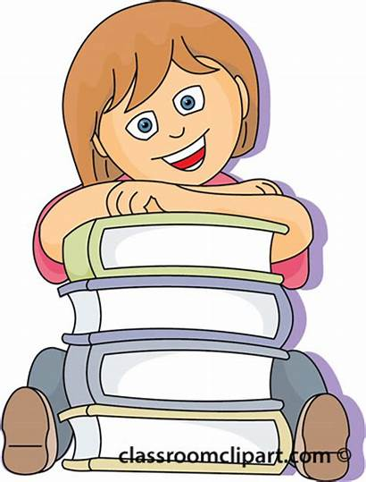 Clipart Student Books Library Students Classroom 29a