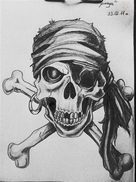 Pirate Skull Tattoo Images & Designs