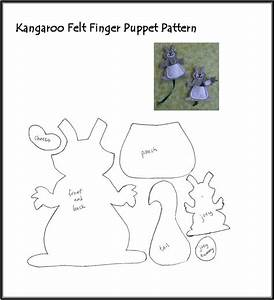 1000 images about felt fingered fun on pinterest felt With kangaroo puppet template