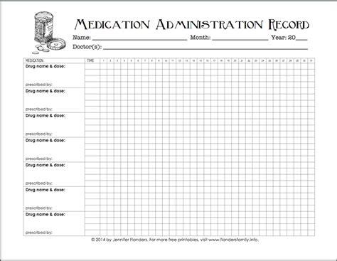 keeping track medications printable chart