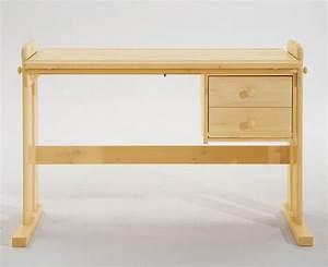 Kiefer Möbel Massiv : schreibtisch 121x62x60cm 2 schubladen platte verstellbar kiefer massiv natur lackiert ~ Markanthonyermac.com Haus und Dekorationen