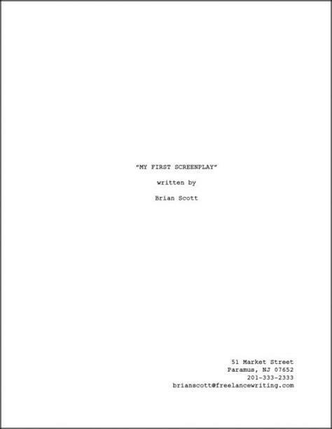 tv script template for pages how to format a title page for your screenplay reelrundown