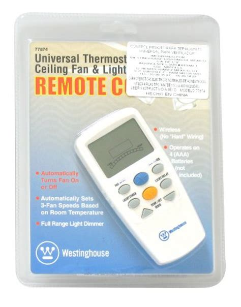 thermostatic ceiling fan and light remote control westinghouse 7787400 thermostat ceiling fan and light