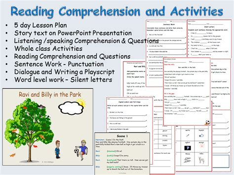 Reading Comprehension, Sentenceword Work, Creative Writing, Role Play Powerpoint  Lessons 1