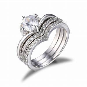 Jewelrypalace women wedding engagement rings cubic for Cz wedding rings for women