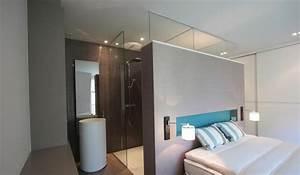 ordinary chambre avec salle de bain ouverte et dressing 2 With chambre parentale dressing salle de bain
