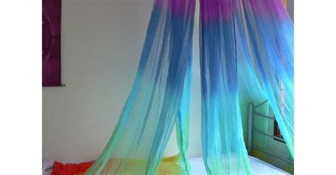Hand Dyed Cotton Rainbow Bed Wrap Bed Net Canopy Room Wrap