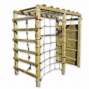 gartenpirat klettergerust premium mit kletterwand With französischer balkon mit reck kaufen garten