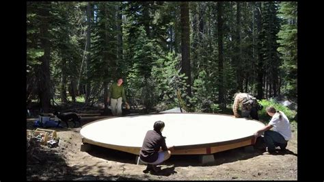 light feet  yurt platform build  setup long