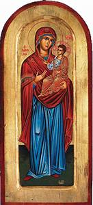 Mary with Jesus Hand-Painted Greek Orthodox Icon » Hand ...