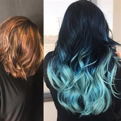 Fresh And Cool Blue Ombre Hair Styles