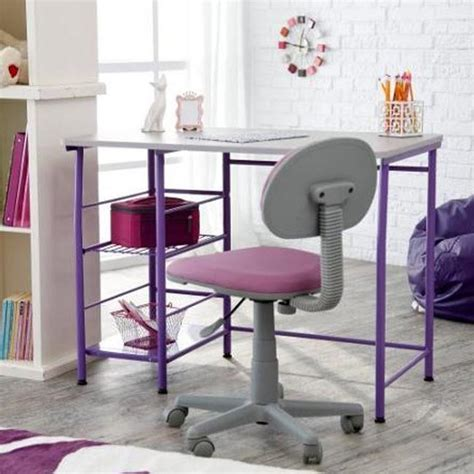 Desks With Storage For Adults by Desk Chair In Pink Blue Purple Home Office Adults