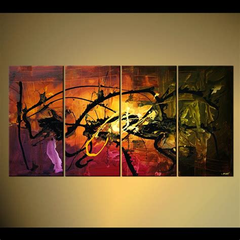 Buy Home Decor Abstract Painting Multi Panel #4717