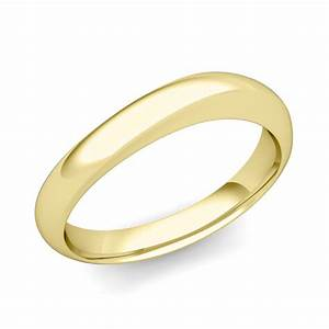 curved wedding band in 14k gold mens comfort fit ring 4mm With curved wedding band to fit engagement ring
