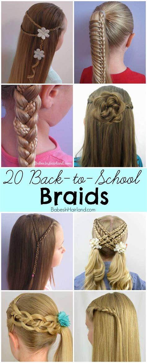 school braids school braids  girl